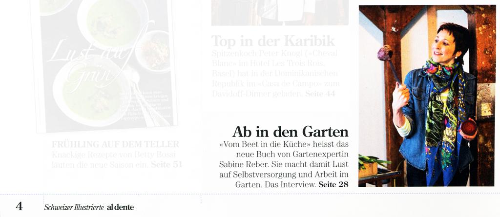 Gartenköchin in der Schweizer Illustrierten