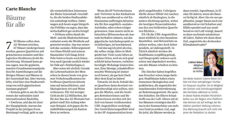 Carte Blanche Bieler Tagblatt